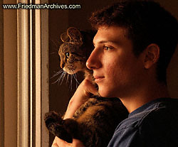 Boy and Cat at Sunrise.jpg